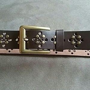 New York & Co genuine leather belt XL studs